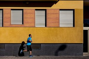 Man exercise - running